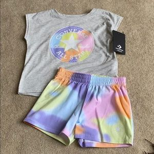 Converse girls shorts set